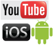 IOS, Android, and YouTube Versions